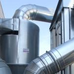 Trattamento dell'aria con gli impianti di aspirazione industriale