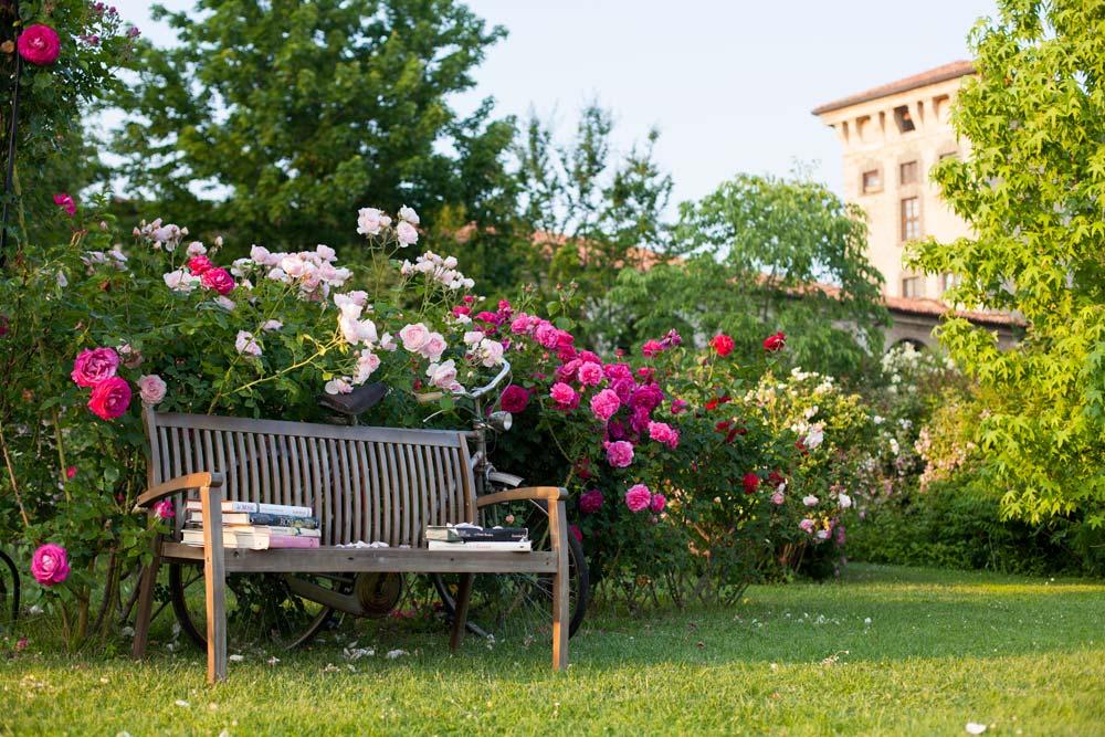 Progettazione e realizzazione giardini all 39 inglese - Giardino con rose ...