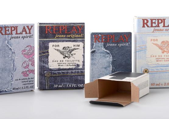 Scatole di prodotti Replay