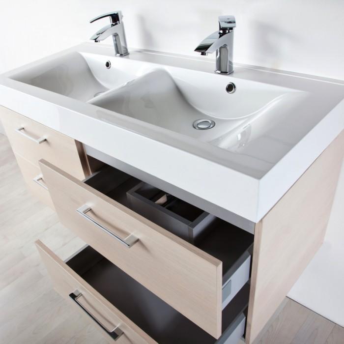 Arredi dal design rigoroso ed elegante per bagni - Dimensioni lavandino bagno ...
