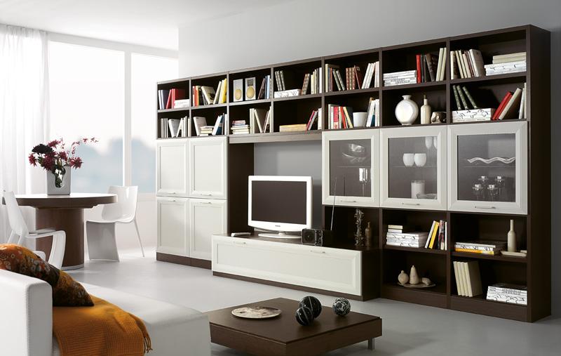 Soluzione salvaspazio arredare con le pareti attrezzate for Aziende produttrici di mobili