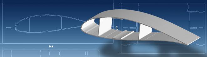 Disegno tecnico di stampo vetroresina