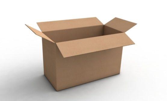 Una scatola di cartone