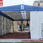 Virtus Entella modernizza lo stadio di Chiavari con un capannone in telo pvc